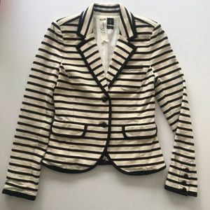 Cream and black striped Blazer by Juicy Couture